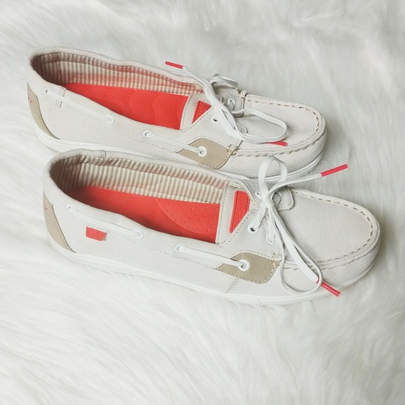 Sperry Shoes - Sperry Topsiders Canvas Deck Shoes SZ 9
